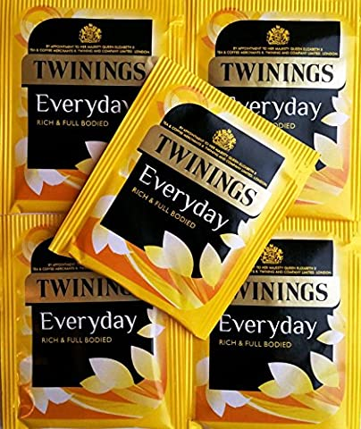 25 x Twinings Everyday Teabags - Individual Enveloped & Tagged Tea Bags