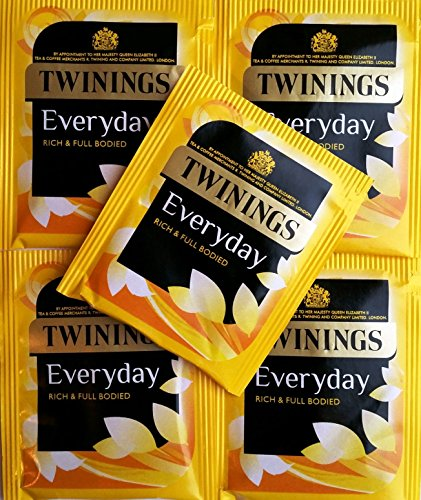 50 x Twinings Everyday Teabags - Individual Enveloped & Tagged Tea Bags