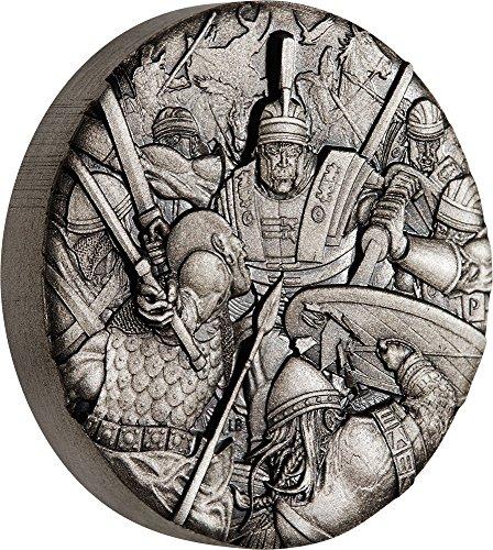 Power coin roman legion legione romana warfare 2 oz moneta argento 2$ tuvalu 2018