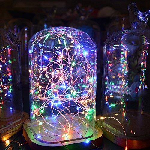 Sunix® Catene Luminose LED 11M 110 LED colorati Caldo Stringa LED con Adattatore di Alimentazione e Telecomando
