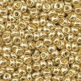 efco 1022196 2.6 mm 17 g Indianerperlen Metallic, Old Gold