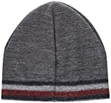 Tommy Hilfiger Herren Strickmütze Knitted Corporate Stripe Edge Beanie, Grau (Silver Fog Heather 005), One size (Herstellergröße: OS)