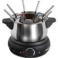 Service à fondue électrique, pour 8 personnes, 1 500 Watt (fondue au fromage, au chocolat, caquelon de 1,2 litre, 8…