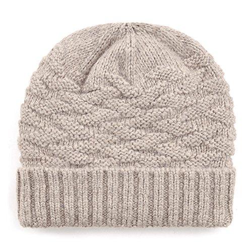 Inverno Cappelli uomo/Cappello di lana/Cappello di orecchio imbottito-B Unica
