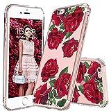 MOSNOVO Cover iPhone 6S, Cover iPhone 6, Roses Fiori Floral Flower Trasparente con Disegni TPU Bumper con Protettiva Custodia Posteriore per iPhone 6 / iPhone 6S (Red Roses)