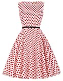 1960s 1960s Party Dress Polka Dot Dress Plus Size 2XL CL6086-44