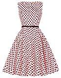 1960s 1960s Party Dress Polka Dot Dress Plus Size 2XL CL6086-44