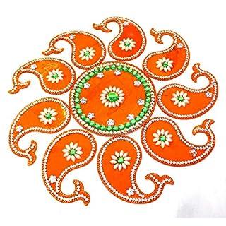 AMBA HANDICRAFT Rangoli/Home Decor/Diwali / Gift for Home/Interior Handcrafted/Floor Stickers/Wall Stickers/Wall Decoration/Floor Decoration/New Year Gift/Party. Rangoli 73