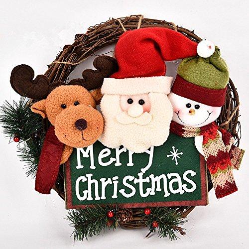Corona natalizia,Ghirlanda natalizia decorativa,Ricco di motivi natalizi, pupazzi di...