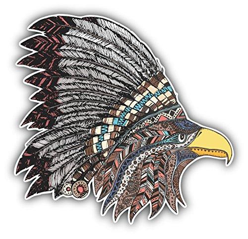 postwalldecor Indian Eagle Head Hochwertigen Auto-Autoaufkleber 12 x 12 cm (Indian Eagle Head)