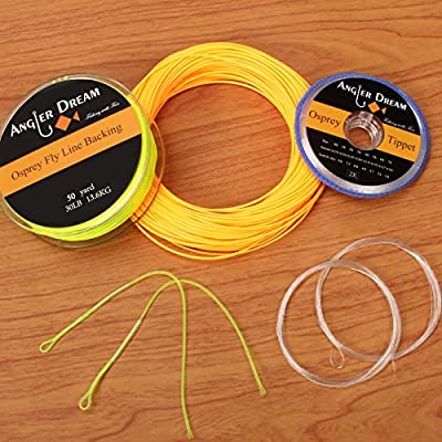 AnglerDream WF Fly Fishing Line Kit 1 2 3 4 5 6 7 8 9WT Fly Fishing Line Leader Braided Backing Fish Line by AnglerDream