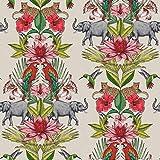 Rasch Papier peint Portefeuille 270419-Tropical Jungle animaux sauvages éléphants Oiseaux
