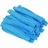 100 pezzi monouso protezione dei capelli non tessuto cappuccio parapolvere berretto per servizio medico cibo cottura trucco (
