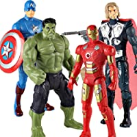 VARNA Avengers Toys Set - Captain America, Ironman, Hulk and Thor - Infinity war 4 Action Hero Collection with led…