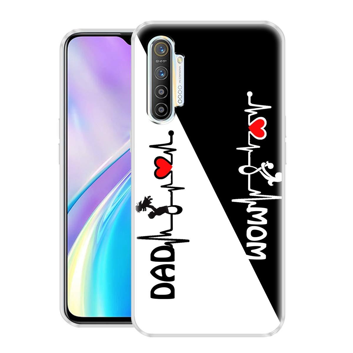 Nainz MOM & DAD Realme XT Printed Back Cover Case for Realme XT