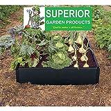 Productos de jardín ® Kit para cama de cultivo en resistente al agua 100% reciclado negro plástico. No se necesitan herramientas.