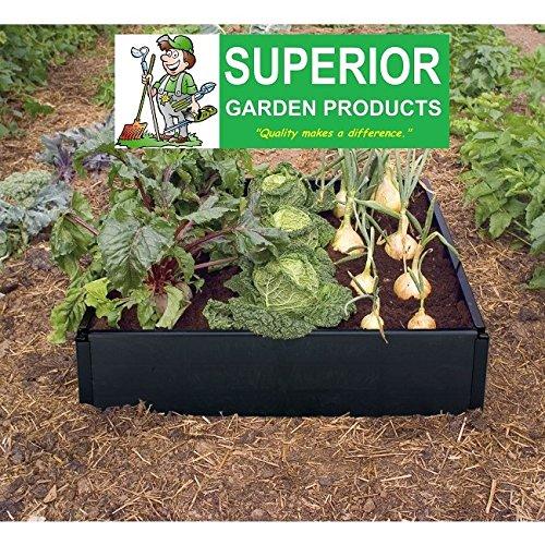 Superior Garden Products® Click to open expanded view Garland Hochbeeten Kit - Grow Bed Hergestellt aus wetterfesten 100{a3bbe4f529ca0f71c73e4c79d7767219896656c49b7ce265cb909c346df67bc1} recycelten schwarzen Kunststoff. Keine Werkzeuge erforderlich!