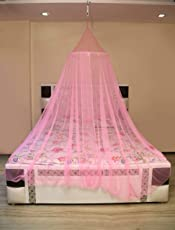 Creative Textiles Portable Polyester King Size Mosquito Net for Double Bed