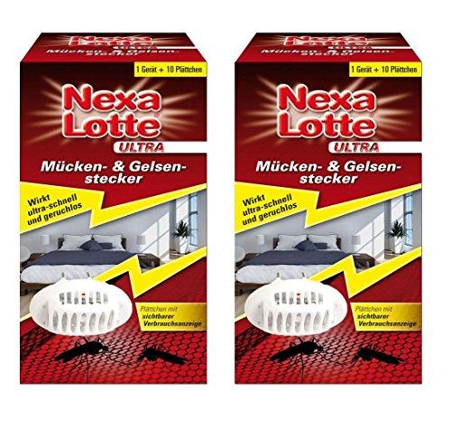 Oleanderhof® Sparset: 2 x SCOTTS Nexa Lotte® Ultra Mücken- & Gelsenstecker Startpackung, 1 Set + gratis Oleanderhof Flyer