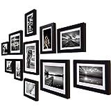 Art Street Boulevard Set of 11 Individual Photo Frames/Wall Hanging (8x10-3 pcs, 6x8 -8 pcs)-Black (ASPWT17078)