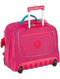 Kipling - CLAS DALLIN - Sac à dos à roulettes - Pink Summer Pop - (Multi-couleur)