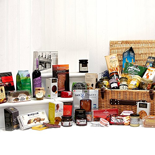 Luxury Food Hamper Gift Large Deluxe Wicker Gift Hamper Basket With 45 Gourmet Food Items Gift Ideas For Valentines Mother S Day Birthday Anniversary Business Corporate And Congratulations Presents Christmas Buy