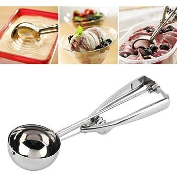 INOVERA (LABEL) Stainless Steel Handheld Ice Cream Serving Scooper(Silver)