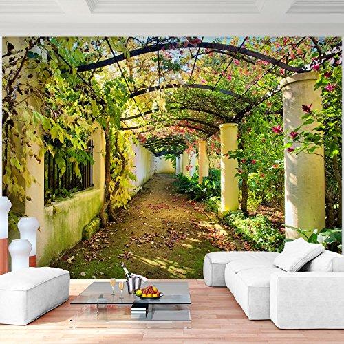 Fototapete Garten Natur 3D Vlies Wand Tapete Wohnzimmer Schlafzimmer Büro Flur Dekoration Wandbilder XXL Moderne Wanddeko - 100% MADE IN GERMANY - Blumen Herbst Runa Tapeten 9003010a (3d Garten)