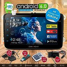 2DIN Auto Radio Android 6.0Creatone AWS de 8800con GPS Navegación (Europa actual de tarjetas con alerta de radar), reproductor de DVD, USB hasta 4TB L Quad-Core Cortex A7CPU | 16GB integrado | 4K Ultra HD Soporte para vídeo, WiFi, Bluetooth 4.0, pantalla táctil 8Pulgadas (21cm) | DAB + MirrorLink | OBD 2| RDS para Volkswagen Golf 5, Golf 6, Passat B6, Passat B7, Passat CC, Touran, Caddy, Jetta, Polo 5, Scirocco, Tiguan, T5Transporter, T5Multivan, Beetle, Sharan 2, Amarok