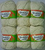 #4: Yashika Best Quality Yarn Half White Colour - Pack of 6