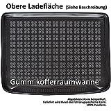 AME Auto-Gummiwanne Kofferraum-matte aus Gummi für den oberen Laderaum, Geruch-vermindert und Passgenau 231875KW