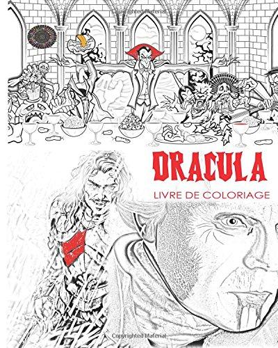 racula: Livre de coloriage adulte sans stress et mandalas du comte Dracula, chauves-souris, Halloween, costumes d'horreur, globes ... utiliser lueur dans les couleurs sombres (Französisch-halloween Puzzle)