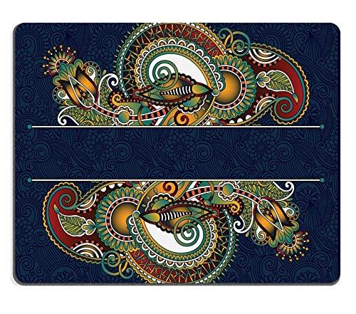 Luxlady Gaming Mousepad Image ID: 32398060insolito modello floreale ornamentale con posto per il tuo testo orientale vintage stile per inviti per festa della brochure design cartolina imballaggio copertina