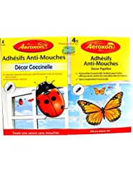 AEROXON - Tue Mouches INSECTICIDE AUTO-COLLANT ADHESIF Lot de 4 adhésifs insecticides