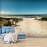 murando - Fototapete 400x280 cm - Vlies Tapete - Moderne Wanddeko - Design Tapete - Wandtapete - Wand Dekoration - Strand Natur Landschaft Meer See c-A-0099-a-a
