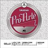 D\'Addario Bowed Corde seule (Do) pour violoncelle D\'Addario Pro-Arte, manche 3/4, tension Medium