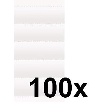 Karton 100 St/ück Leitz Blanko-Schildchen Karton 100 St/ück gr/ün orange /& Blanko-Schildchen