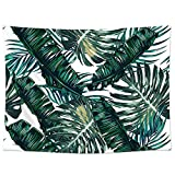 """Palm Tree Wall Hanging Tapestry Decor, Pawaca 60"""" X 80"""" Polyester Fabric Floral Wallpaper Home Decorations For Bedroom, Living Room, Dorm"""