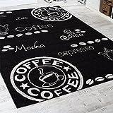 Teppich Modern Flachgewebe Sisal Optik Küchenteppich Anthrazit Grau, Grösse:80×200 cm - 2