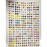 SODIAL(R) 300 Piezas de Pegatina de Boton para iPhone4/4s/5, iPad