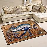XiangHeFu - Alfombra Antideslizante para salón, Comedor, Dormitorio, diseño de Ojo de Horus Egipcio de 5,08 x 2,54 cm
