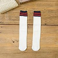 Wanglele Le Canon Droit Femelle Socks Chaussettes Du Fourreau De La Sueur Et Des Chaussettes Humides 2 Broches B Barre Oblique Haute Taille, Longues Chaussettes Double 10