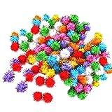 F Fityle Pompe di Canutiglia di Colore Assortiti Palle di Scintillio di Colore Giocattoli Divertenti di Scintillio per Animali Domestici - 100 Pezzi