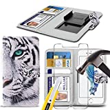 i-Tronixs (White Tiger 5 inch) PRINTED DESIGN case for