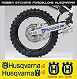 Aufkleber stickers HUSQVARNA Fahrradgabel moto decal bike-Motorrad- Cod. 0647 (Blu Royal cod. 049)