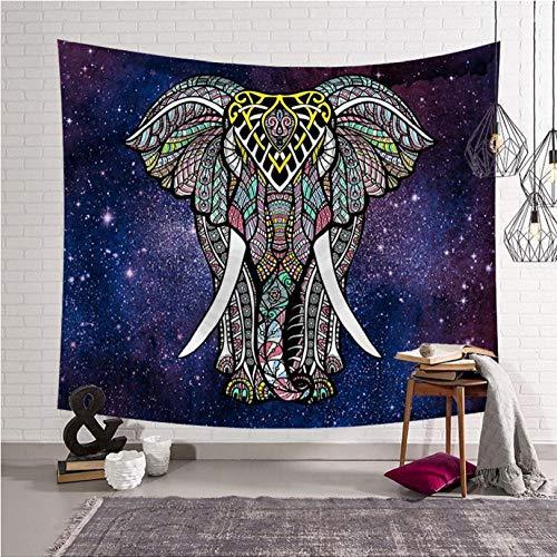 hhyyoo Tapiz De Elefantes Color Mandala Tapiz Bohemia India 200 * 150Cm
