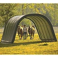 ShelterLogic Run-In-Weidezelt Lagerzelt, Lagerhütte // 22,6m² // 610x370x250 cm (LxBxH) // Weidezelt Unterstand