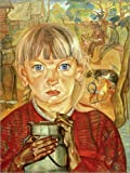 Posterlounge Alu Dibond 120 x 160 cm: Mädchen mit Milchkanne von Boris Dmitrievich Grigoriev/akg-Images