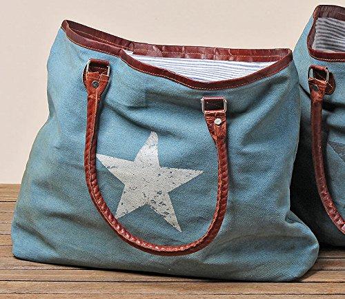 tasche-mit-henkel-jeansstoff-stern-weiss-handtasche-tragetasche-recycelte-baumwolle