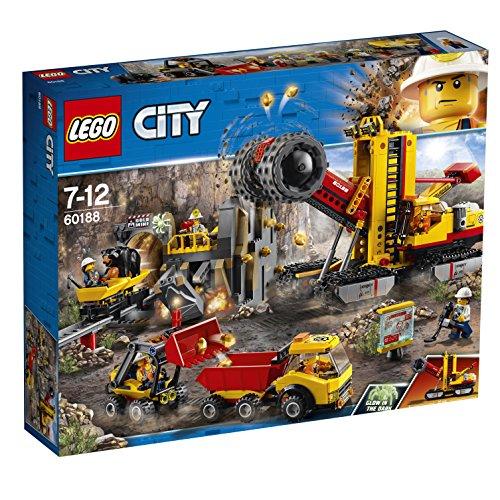 LEGO City 60188 – Bergbauprofis Bergbauprofis an der Abbaustätte, Kinderspielzeug